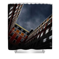 Urban Drawing Shower Curtain by Hannes Cmarits