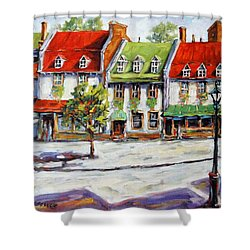 Urban Montreal Street By Prankearts Shower Curtain by Richard T Pranke