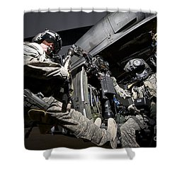 U.s. Air Force Crew Strapped Shower Curtain by Terry Moore