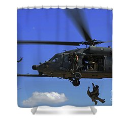 U.s. Air Force Pararescuemen Shower Curtain by Stocktrek Images