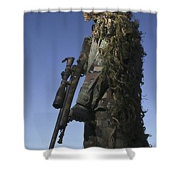 U.s. Air Force Sharpshooter Dressed Shower Curtain by Stocktrek Images