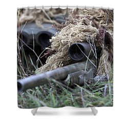 U.s. Marines Practice Stalking Shower Curtain by Stocktrek Images
