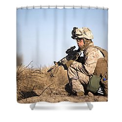 U.s. Navy Soldier Participates Shower Curtain by Stocktrek Images