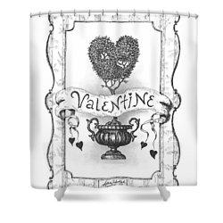 Valentine Shower Curtain by Adam Zebediah Joseph