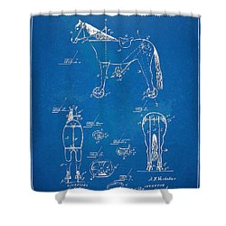 Velocipede Horse-bike Patent Artwork 1893 Shower Curtain by Nikki Marie Smith