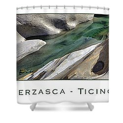Verzasca Stones Shower Curtain by Joana Kruse