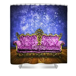 Victorian Sofa In Retro Room Shower Curtain by Setsiri Silapasuwanchai