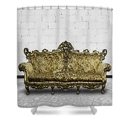 Victorian Sofa In White Room Shower Curtain by Setsiri Silapasuwanchai
