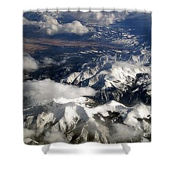 View From Above II Shower Curtain by Patricia Griffin Brett