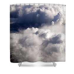 View From Above V Shower Curtain by Patricia Griffin Brett