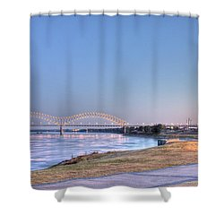View From The Park Shower Curtain by Barry Jones