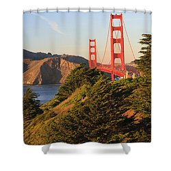 View Of Golden Gate Bridge San Shower Curtain by Stuart Westmorland