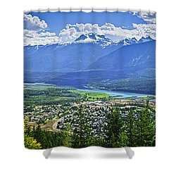 View Of Revelstoke In British Columbia Shower Curtain by Elena Elisseeva