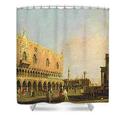 View Of The Piazzetta San Marco Looking South Shower Curtain by Canaletto