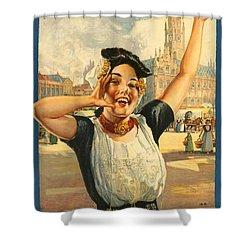Vintage Holland Shower Curtain by Georgia Fowler