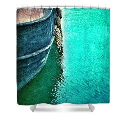 Vintage Ship Shower Curtain by Jill Battaglia