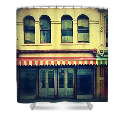 Vintage Store Fronts Shower Curtain by Jill Battaglia