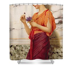 Violets Shower Curtain by John William Godward