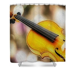 Violin Shower Curtain by Cheryl Young