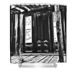 Virginia City Ghost Town Door II Shower Curtain by Susan Kinney