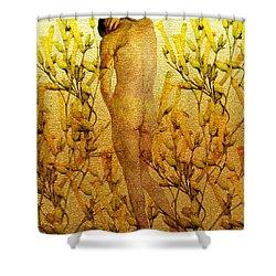 Vital Solitude Shower Curtain by Kurt Van Wagner