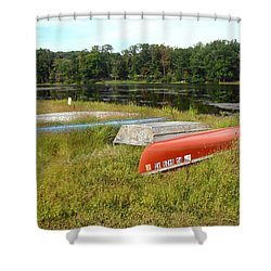 Waiting For One Last Summer Voyage Shower Curtain by Mother Nature