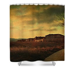 Walking Alone Shower Curtain by Laurie Search