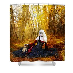 Warm Friends Shower Curtain by Mary Hood