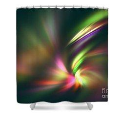 Warp Speed Shower Curtain by Kim Sy Ok