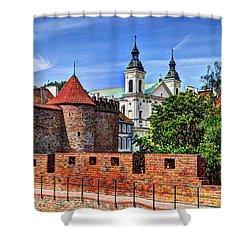 Warsaw Church Shower Curtain by Jon Berghoff