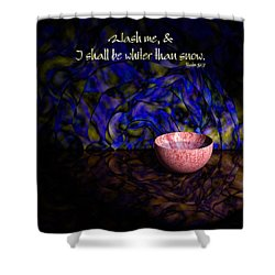 Wash Me Shower Curtain by Christopher Gaston