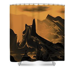 Wastelands Shower Curtain by Maria Urso
