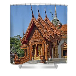Wat Ban Tha Bo Ubosot Dthu200 Shower Curtain by Gerry Gantt