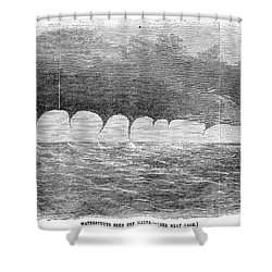 Waterspouts, 1856 Shower Curtain by Granger