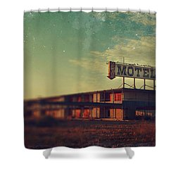 We Met At The Old Motel Shower Curtain by Laurie Search