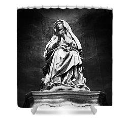 Weeping Madonna Shower Curtain by Gaspar Avila
