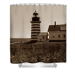 West Quoddy Lighthouse Shower Curtain by Skip Willits