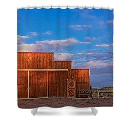 Western Barn Shower Curtain by Mike Hendren