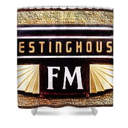 Westinghouse Fm Logo Shower Curtain by Andee Design