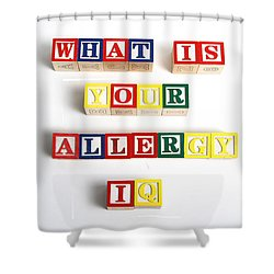 What Is Your Allergy Iq Shower Curtain by Photo Researchers