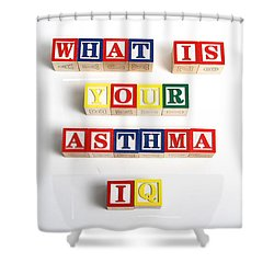 What Is Your Asthma Iq Shower Curtain by Photo Researchers