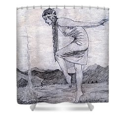 When Shadows Fall Shower Curtain by Donna Munro