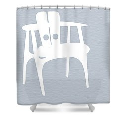 White Chair Shower Curtain by Naxart Studio