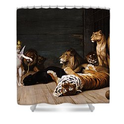 Whoever You Are Here Is Your Master Shower Curtain by Jean Leon Gerome