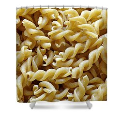 Wholemeal Pasta Shower Curtain by Frank Tschakert