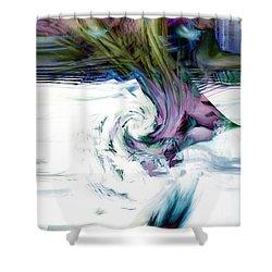 Why Shower Curtain by Linda Sannuti