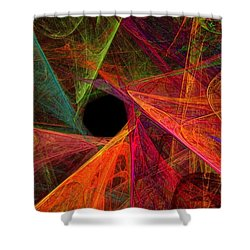 Wide Eye Color Delight Panorama Shower Curtain by Andee Design