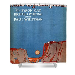 Wide Open Spaces Shower Curtain by Mel Thompson