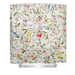 Wild Flowers Design For Silk Material Shower Curtain by William Kilburn