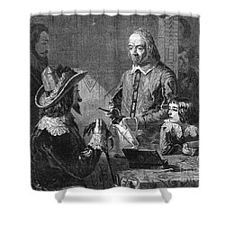 William Harvey, English Physician Shower Curtain by Photo Researchers